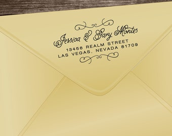 Custom Personalized Return Address Stamp - Personalized Traditional Wood Handle Rubber Stamp - Customize Made Stamp