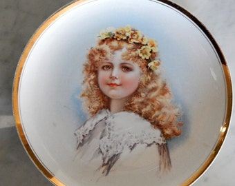 Lovely Imperial Semi Viterous China Portrait Plate