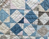Antique Vintage  BROKEN DISHES Var. Country Scrap  QUILT    Hand-Pieced   Hand-Quilted
