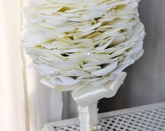 wedding bouquet white rose artificial flower