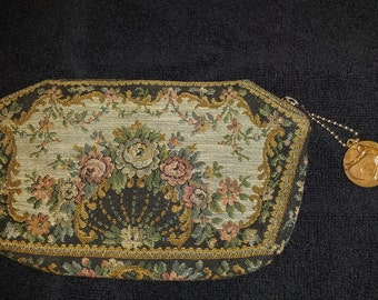 Early 1900s Vintage Embroidered Purse