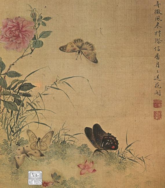 Asian Flower Print 110
