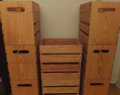 Tall Wooden Wine & Spirits Crates