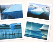 SALE, Iceberg Photo Greeting Cards, Unique Stationery Set, Nature Photography