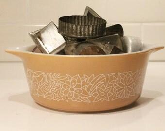 Mixing Bowl, Pyrex Bowl, Pyrex Baking Dish, Casserole Dish, Glass Bowl, Beige Bowl, Clearance