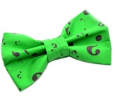 Riddler Novelty Bow Tie with Adjustable Strap