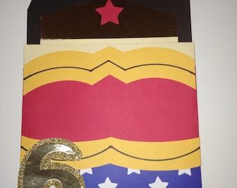 Super woman handmade invitation