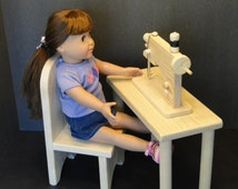 Sewing Table with Chair for 18 inch Dolls (table & chair only) (0133)