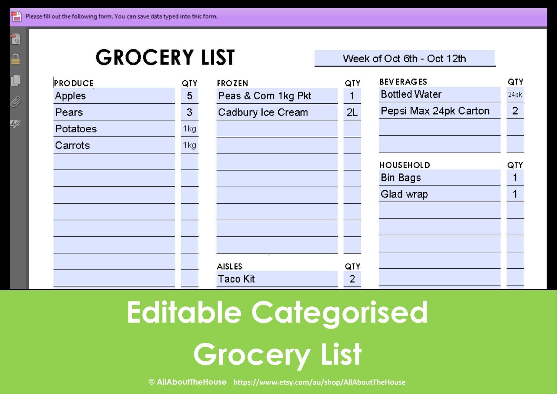 editable shopping list template raffle ticket maker