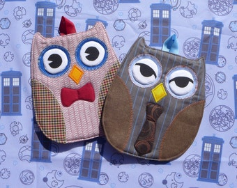 Doctor Who Owl Hot Pads - Set of 2