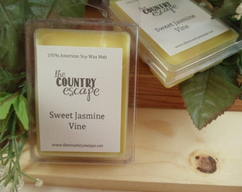 Sweet Jasmine Vine Scented 100% Soy Wax Melt - Intense and Complex -Maximum Scented