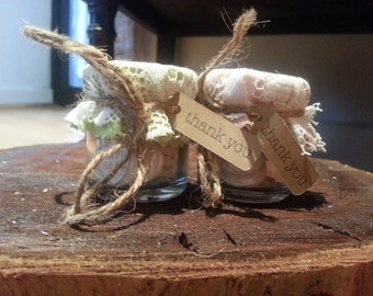 Wedding Favor Lace Jars
