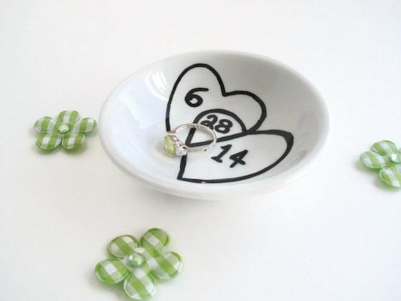 Personalised Wedding Gift Ring Dish : Ring Holder DishCustom Ring DishCouples GiftWedding Ring Dish ...