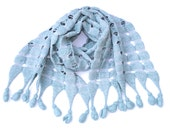 Pale Blue Felted Wrap   'Forget me not' - MarissaThereze