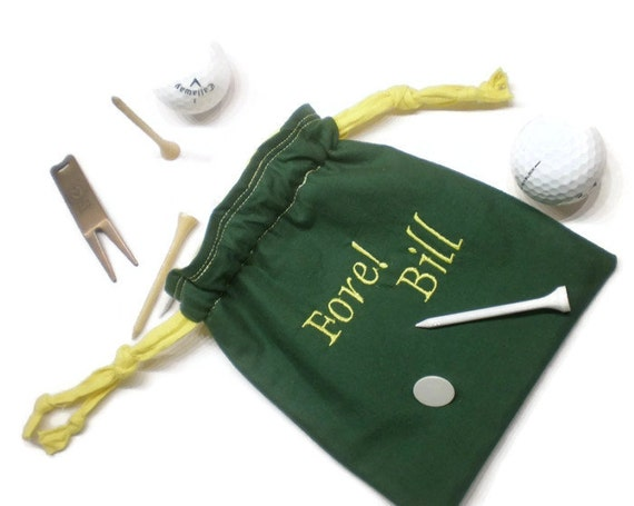 Personalized Golf Bag Golf Tee Pouch Golf Tee Bag Golf