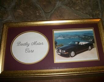 Vintage Bentley Motor Cars Framed Picture