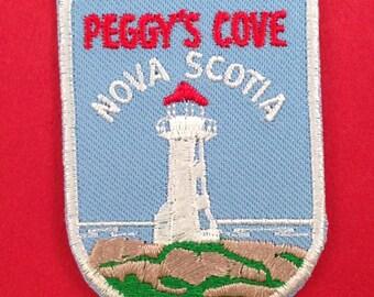 Peggy's Cove Nova Scotia Vintage Travel Patch