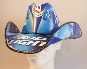 Beer Box Cowboy Hats Made From Recycled Bud Light By