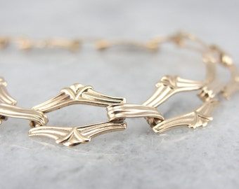 Retro Fancy Link Gold Bracelet for lady 82KHVH-D