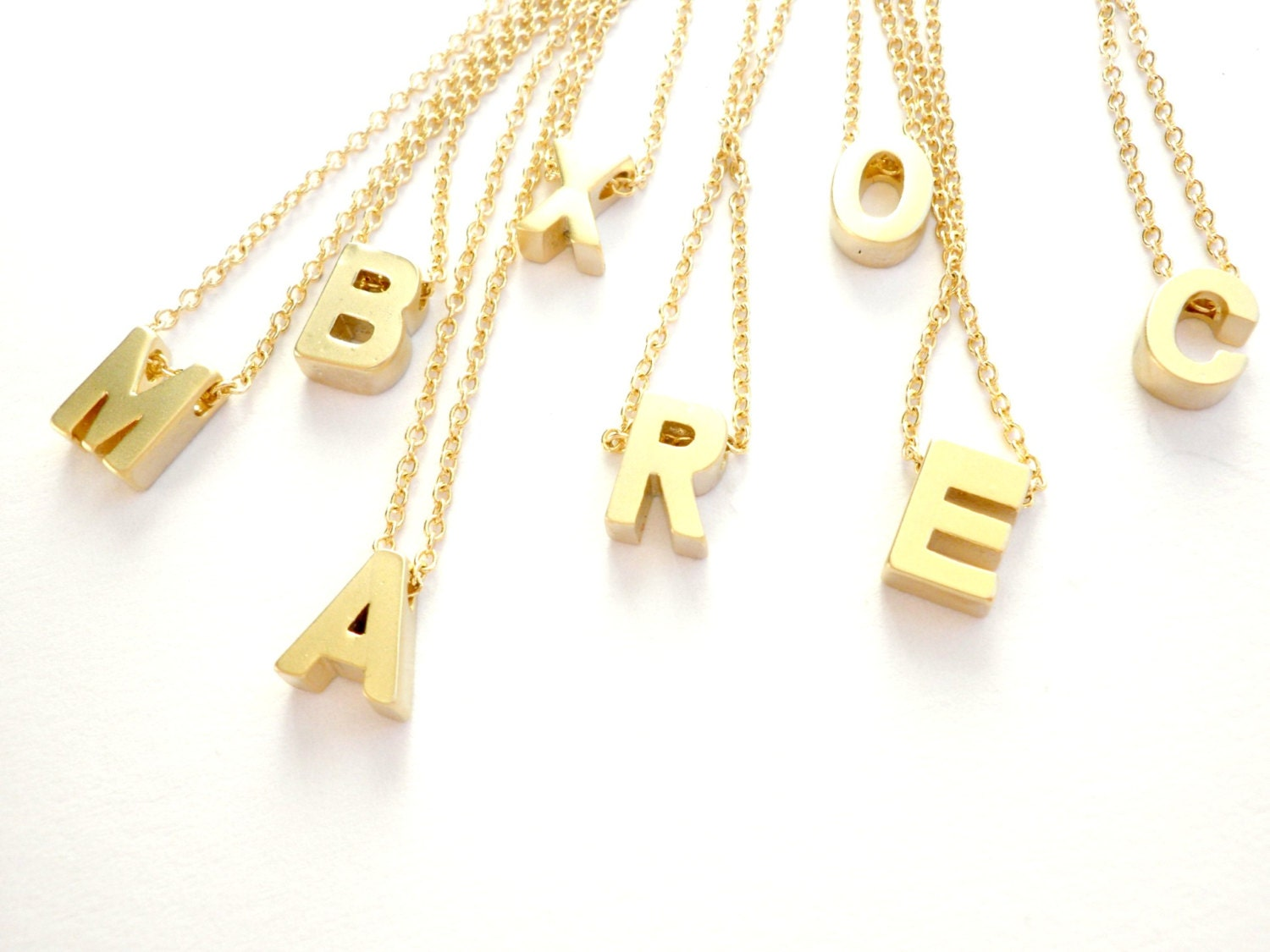 gold letter necklace initial letter necklace tiny necklace