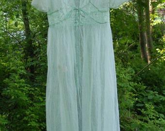 Vintage Pandora nylon robe - size SM