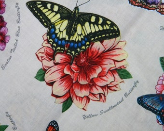 Butterfly Garden--fabric by the yard--Elizabeth's Studio, cotton