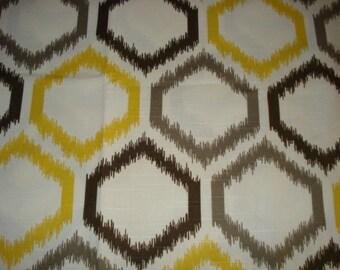 "One Dwell Studio diamond ikat Citrine fabric pillow cover designer decorative throw pillow  16x16"" 18x18 20x20 22x22"""