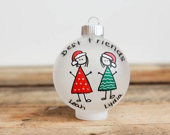 Best Friends Christmas Ornament - Personalized for Free