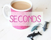 SECONDS Collective Animal Nouns Ceramic Mug. Gorgeous Burgundy Colour. Educational birthday gift for her or him. Great for children to learn