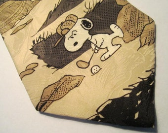 Charlie Brown & Snoopy Golf Necktie.