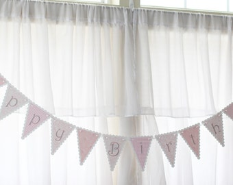 MADE TO ORDER Pretty in Pink Happy Birthday Banner