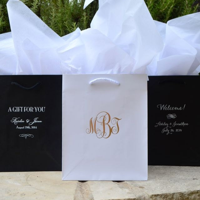50 custom hotel wedding welcome bags personalized printed