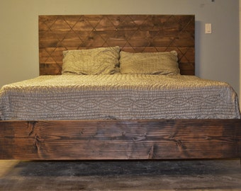 wood bed frame and harrlequin wood headboard corrientes