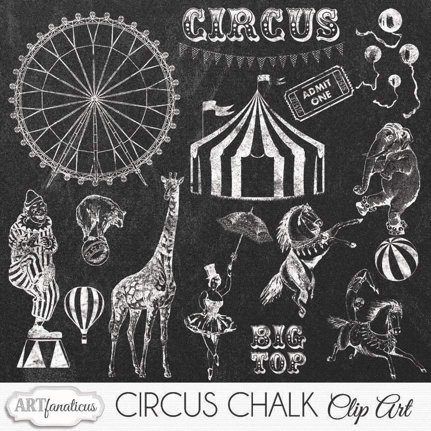 Vintage Elephant Clip Art