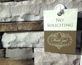 No Soliciting Doorbell Cover