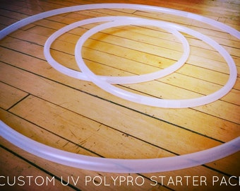 Starter Pack High-Quality UV Polypro- Twin Minis and Full Size Hula Hoop - Beginners & Performance