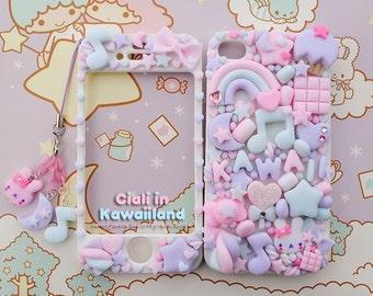 Kawaii Decoden Case - Sugar Fairy World case - Super cute kawaii full body front back case iphone 4/5/5s/6/6s/7 galaxy s3/s6/s7