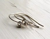 Deco Rose ear wires - 3 pairs silver/antique silver - handmade ear wires, earwires, unique earwires, silver ear wires, rose ear wires