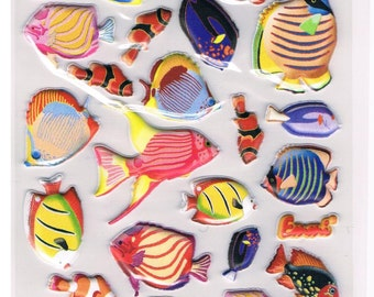 Stickers, fish, 1 sheet (1327)