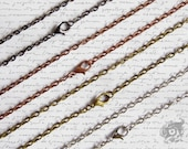 Cable chain for Arkana pendants only ADD-ON ITEM Antique bronze Antique copper Silver and Gunmetal tone - 24 inch - lead and nickel free