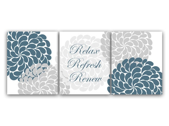 Items similar to relax refresh renew home decor wall art for Relax bathroom wall decor