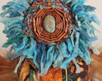 Feather Dreamtime Totem Spirit Doll, OOAK