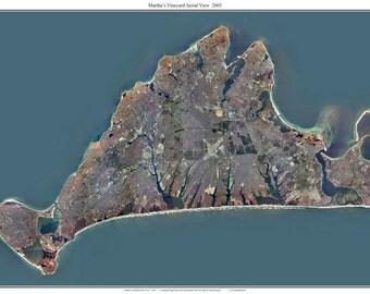 Martha's Vineyard 2005 Aerial View -  Custom Composite Massachusetts