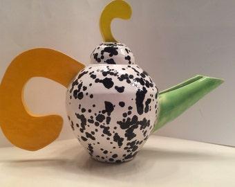 SALE - was 85 Funky doodle 90s teapot handmade