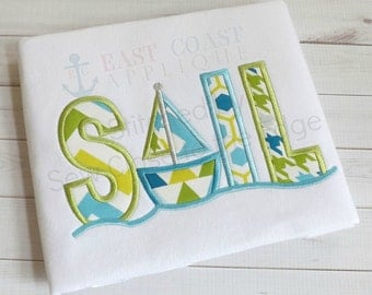 SAIL machine embroidery design