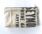 Recycled Canvas Pencil Case Lumber Apron Pouch Zipper Wallet