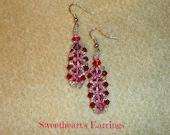 Sweetheart's Sprial Stitch Earrings