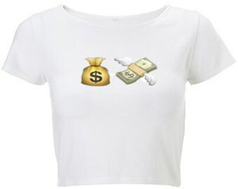 49b7087d55ad0 Money emoji crop top jpg 340x270 Emoji crop top bow