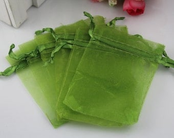 6 Sizes Available 50 Olive Organza Gift Pouch Organza bag