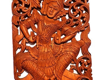 Hand Carved Wooden Dancer from Thailand